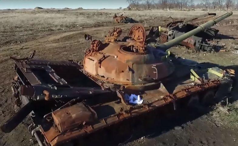 Wysłali drona nad ukraińskie pobojowisko. Przerażający widok