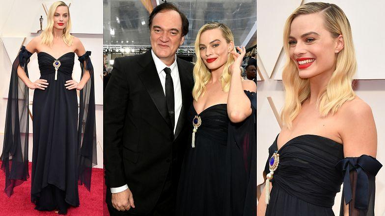 Oscary 2020: Czerwonousta Margot Robbie zadaje szyku w czarnej sukience bez ramion od Chanel
