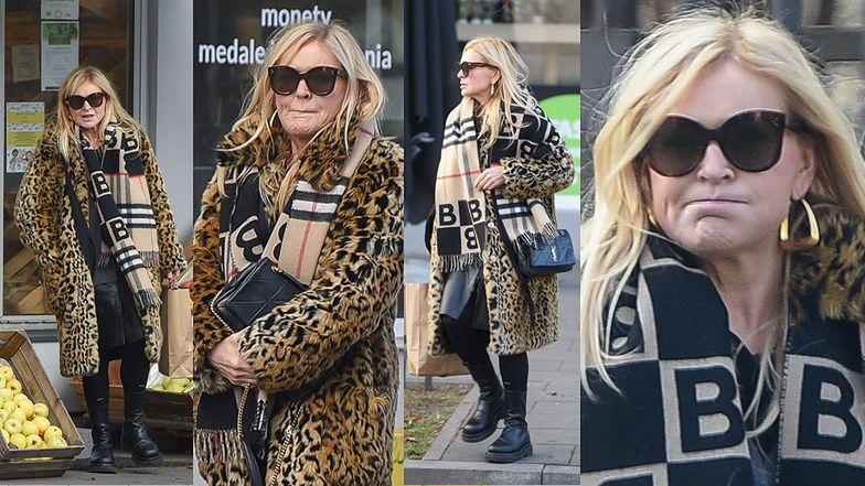 Monika Olejnik robi zakupy w lamparcim płaszczu i z torebką za ponad 7 tysięcy (ZDJĘCIA)
