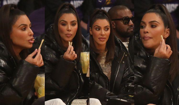 Na poniedziałkowym meczu Kardashianka zaprezentowała wachlarz zabawnych min