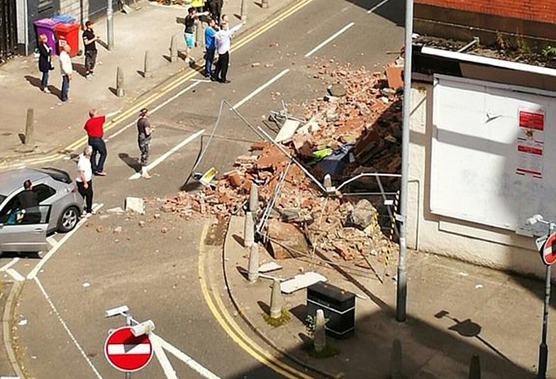 Potężna eksplozja w Glasgow. Zawaliła się ściana budynku