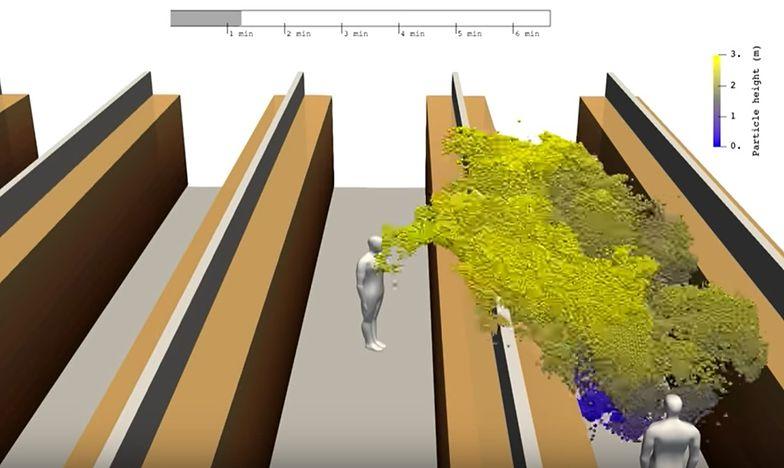 Naukowcy z Aalto University przedstawili symulację rozprzestrzeniania się koronawirusa w supermarkecie.