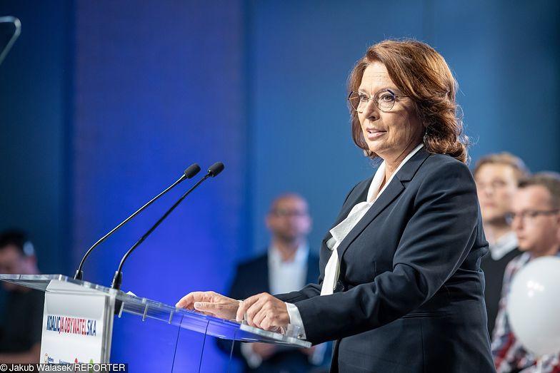 Małgorzata Kidawa-Błońska podczas konwencji w Sosnowcu podkreślała, że PiS idzie na wojnę z ludźmi pracy