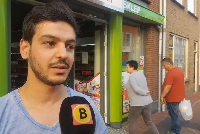 Napad na polski supermarket w Holandii. Rozbili butelkę na głowie pracownika