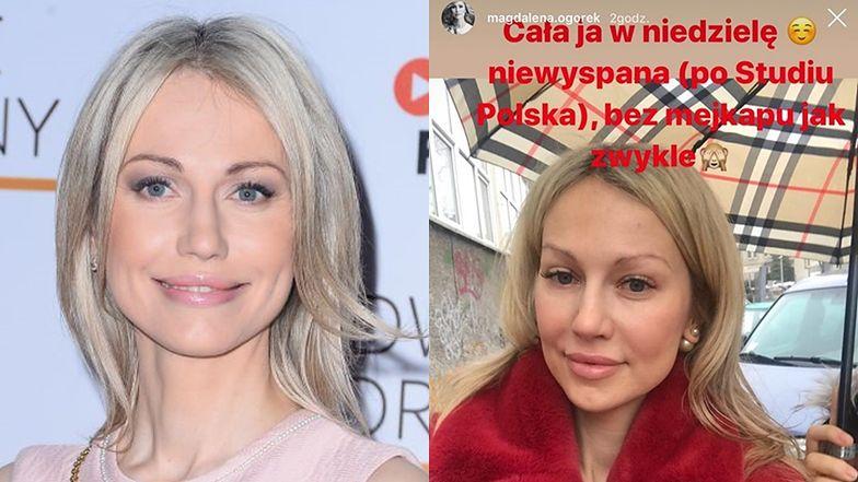"""Magdalena Ogórek pokazała się bez makijażu! """"Bez mejkapu jak zwykle"""""""