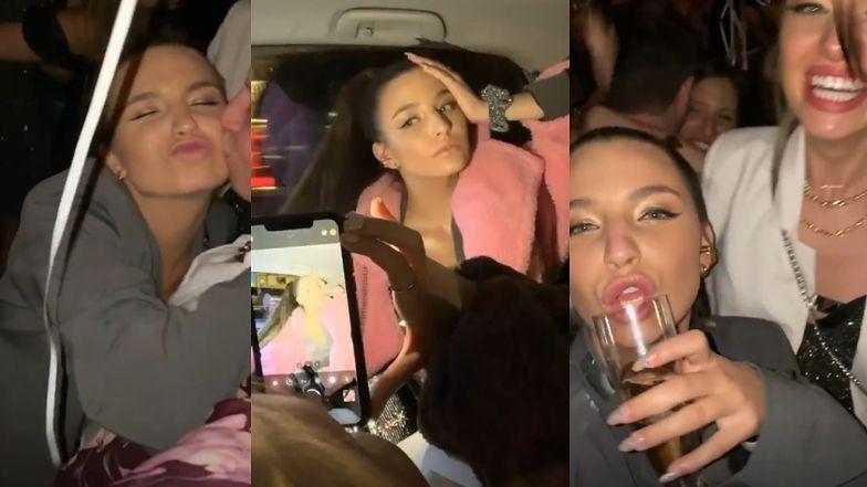 Światowy sylwester Julii Wieniawy w Nowym Jorku: impreza na Manhattanie, weneckie maski i sesja w taksówce (FOTO)