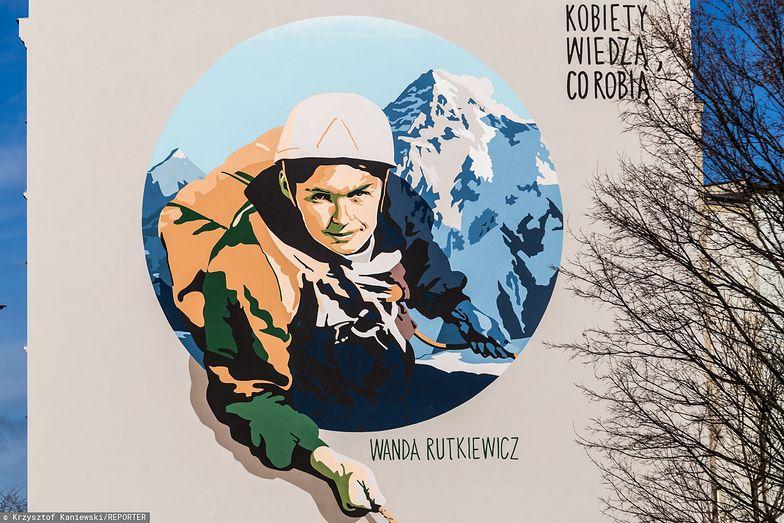 Wanda Rutkiewicz. Mural we Wrocławiu