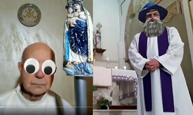 Włoscy księża niechcący włączyli filtry na Facebooku.