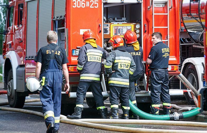 Pożar w Lubsku