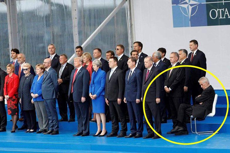 """Wpadka prezydenta Czech na szczycie NATO. """"Wybrali pijaka na prezydenta"""""""