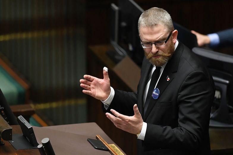 Grzegorz Braun nie szczędził słów w stronę Rządu na ostatnim posiedzeniu Sejmu