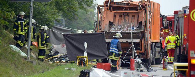 Tragiczny wypadek w Nagoldz udziałem śmieciarki