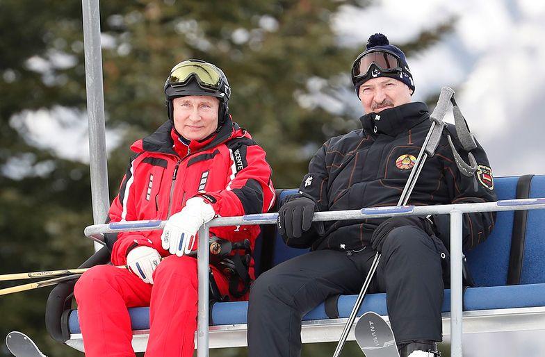 Putin i Łukaszenka pogodzili się na nartach