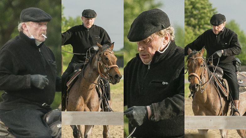 Daniel Olbrychski szlifuje umiejętności jeździeckie