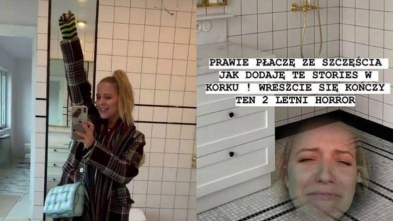 """Jessica Mercedes płacze ze szczęścia, bo urządziła łazienkę: """"Kończy się 2-LETNI HORROR"""""""