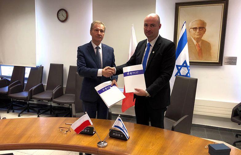 Krzysztof Silicki, Dyrektor NASK ds. Cyberbezpieczeństwa i Innowacji i Yigal Unna, Dyrektor Zarządu ds. Cyberbezpieczeństwa w Izraelu