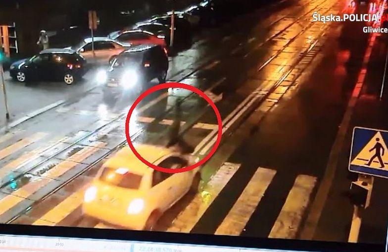 Policja opublikowała filmik z potrącenia w Gliwicach
