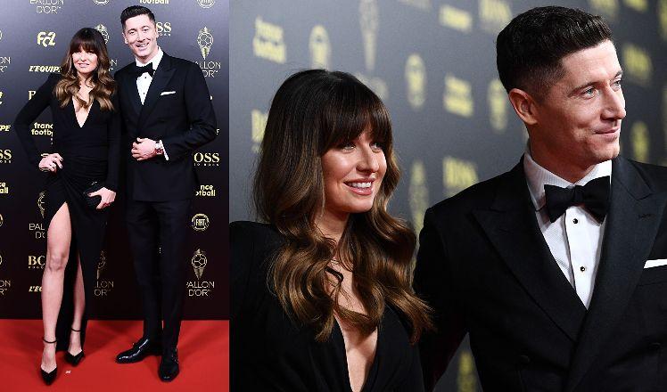 Eleganccy Lewandowscy w czarnych stylizacjach wdzięczą się do zdjęć na gali Złota Piłka. Widać zaokrąglony brzuszek? (ZDJĘCIA)