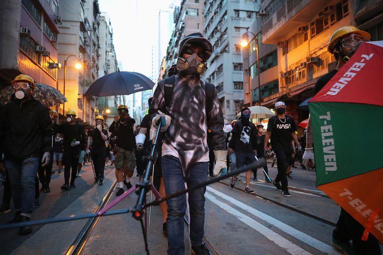 Hongkong. Protesty w mieście trwały cały weekend