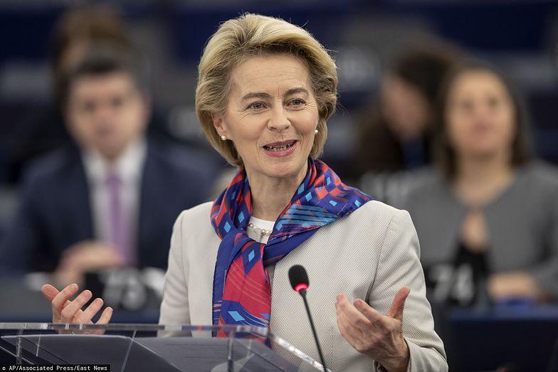 """Ursula von der Leyen chciałaby, żeby europejska płaca minimalna była """"sprawiedliwa""""."""
