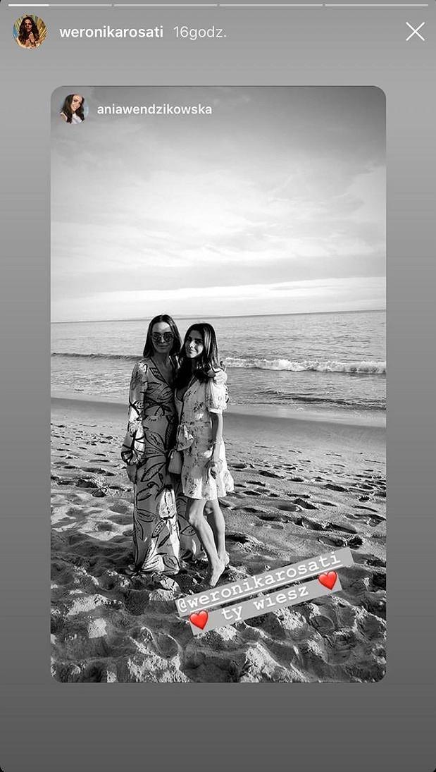 """Weronika Rosati i Anna Wendzikowska pozują razem na plaży w Kalifornii: """"Ty wiesz"""""""
