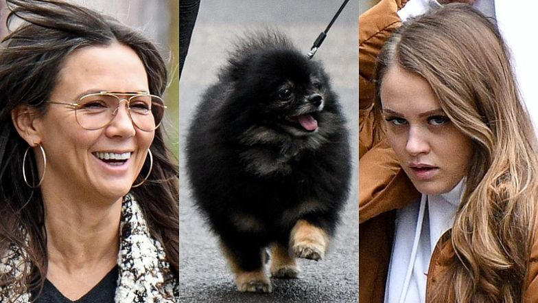 Naturalna Kinga Rusin i przystojny Czarek Lis świętują 23. urodziny Poli na rodzinnym spacerze