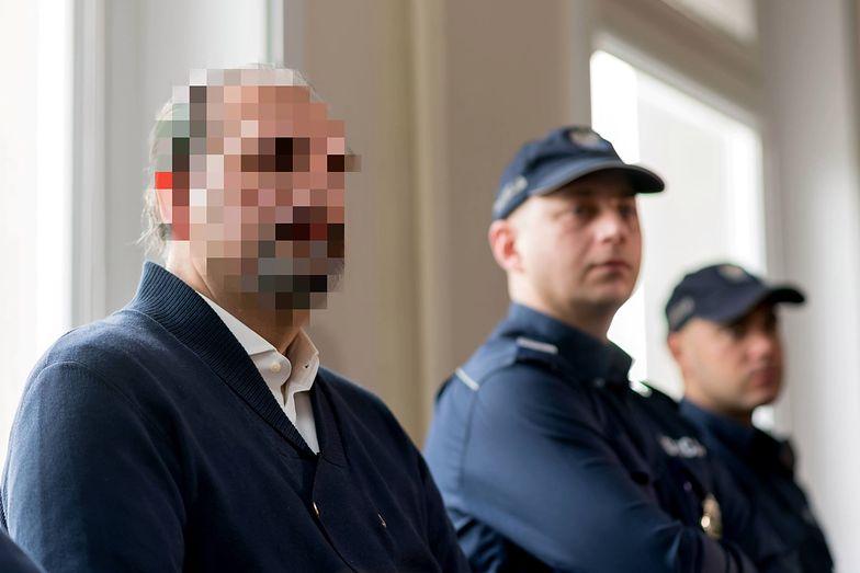 Arkadiusz Ł., pseudonim Hoss na sali rozpraw w poznańskim sądzie w 2018 roku.
