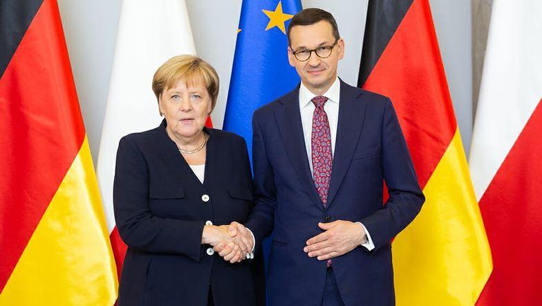 Kanclerz Angela Merkel i Mateusz Morawiecki