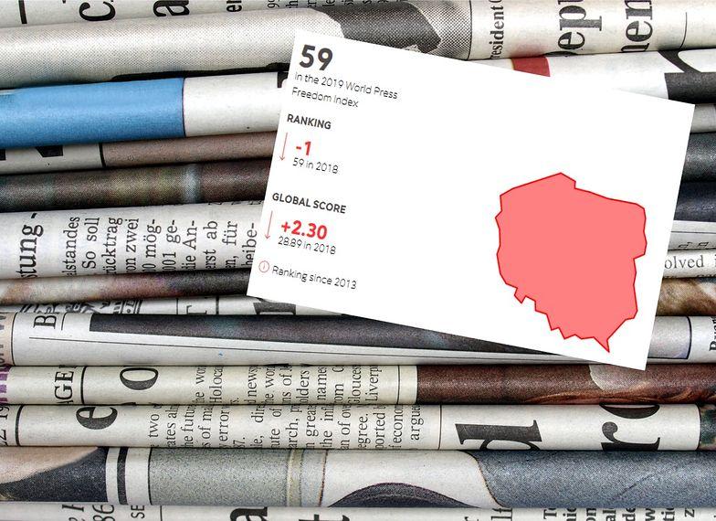 Reporterzy bez granic. Polska w najnowszym rankingu wolności prasy zajęła 59. lokatę