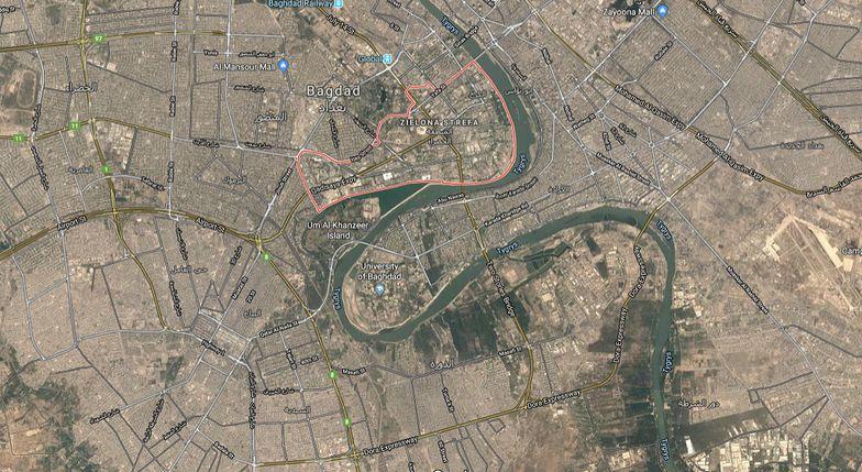 Irak. Atak na dzielnicę rządową w Bagdadzie