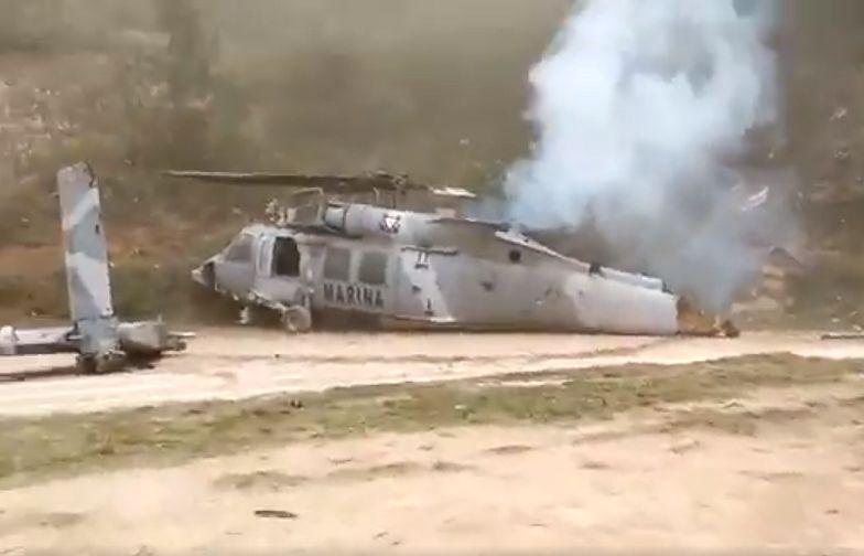 Katastrofa helikoptera w Meksyku. Odbijali porwanych.