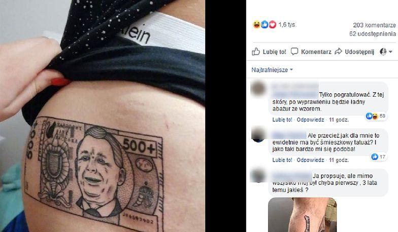 Tatuaż 500+. W internecie zawrzało na ten widok