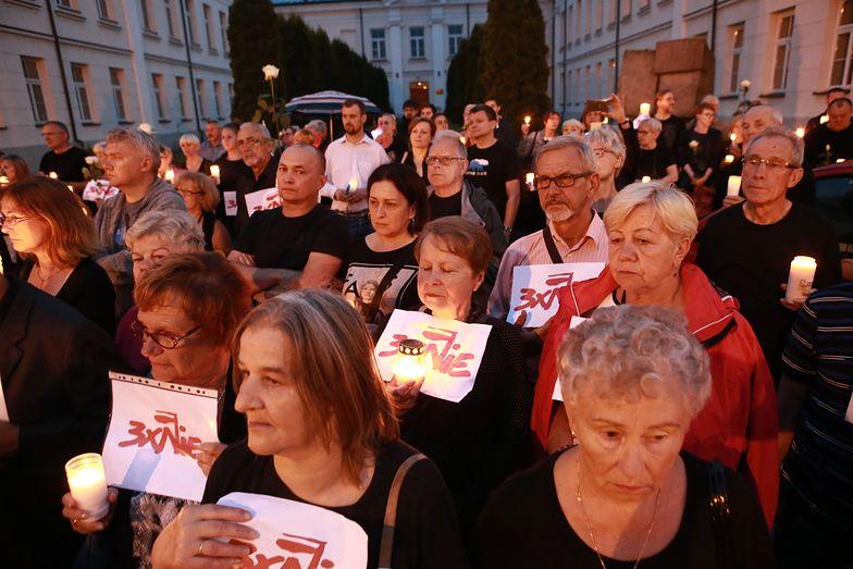 Protest przeciwko reformie sądownictwa w Płocku