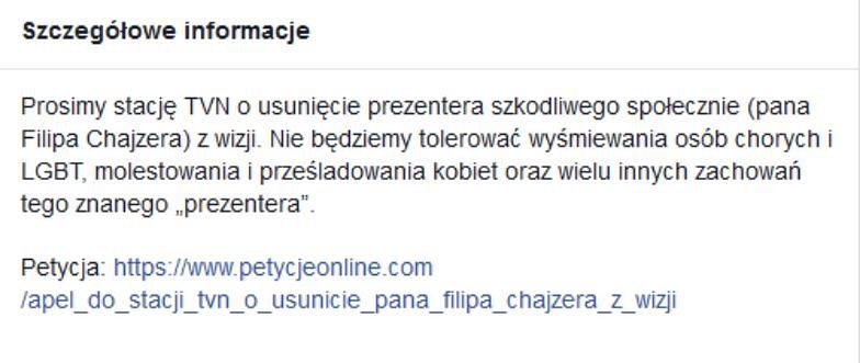 Internauci chcą usunięcia Filipa Chajzera z wizji. Pod apelem podpisało się ponad 20 tysięcy osób!