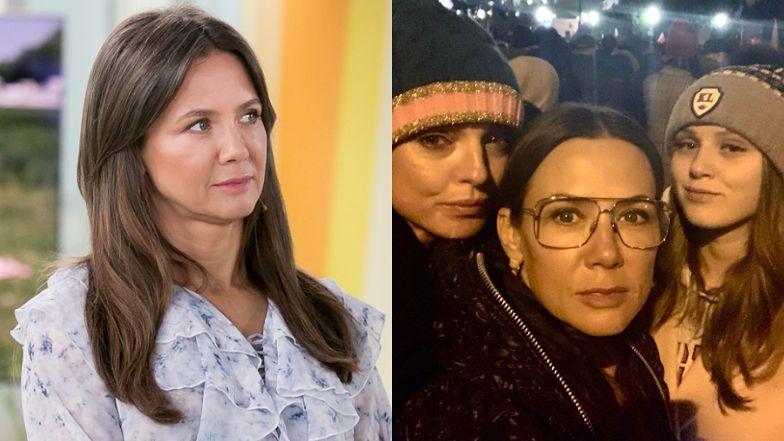 Kinga Rusin z Polą i Katarzyną Sokołowską walczą o wolne sądy na proteście przed Sejmem (FOTO)