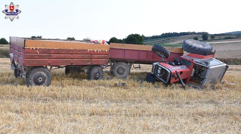Wypadek w Szczebrzeszynie. Ciągnik przygniótł rolnika