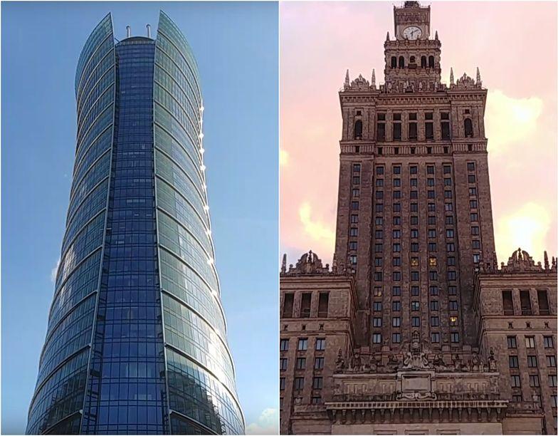 Pojedynek najwyższych budynków w Polsce. Pałac Kultury kontra Warsaw Spire