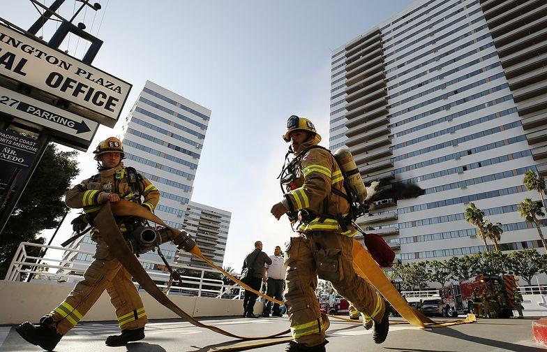 Ogień przypadkowo zauważyli strażacy