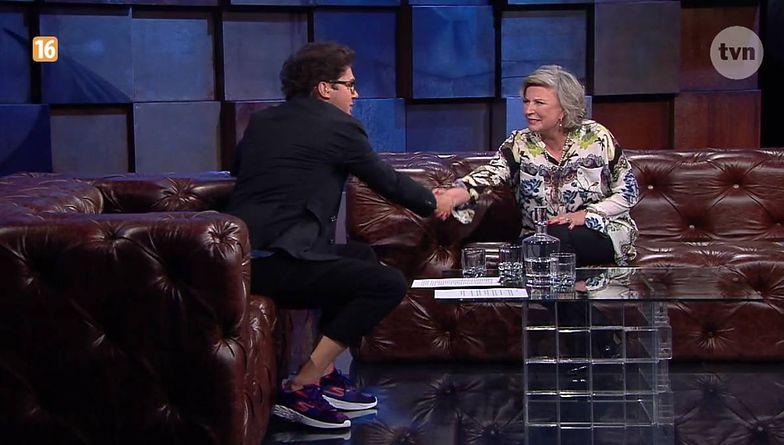 """Kuba za wszelką cenę chciał rozmawiać z aktorką o polityce. """"Obywatelskim obowiązkiem jest reagować. Obywatelskim obowiązkiem jest mówić, że coś według nas nie powinno być tak""""."""