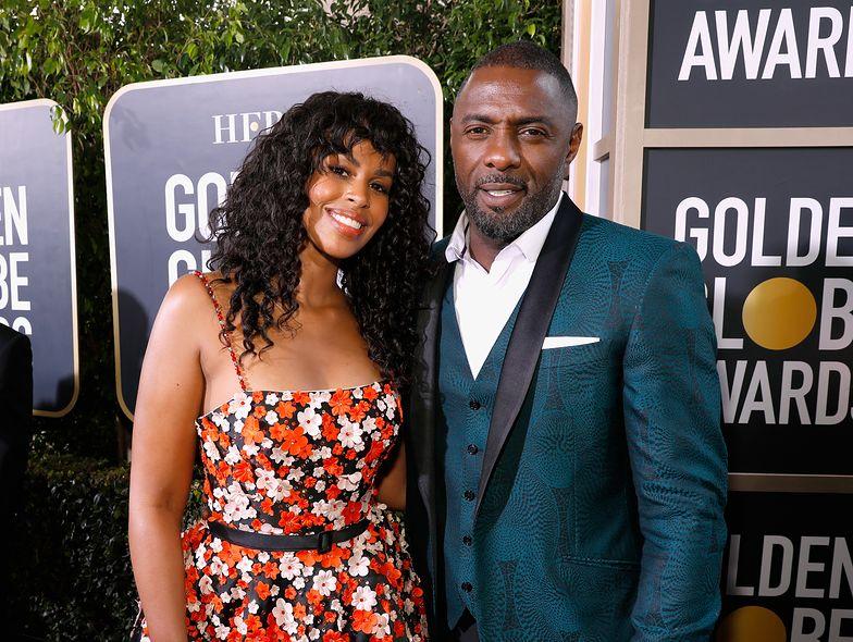 Idris Elba i Sabrina Dhowre na gali Złotych Globów.
