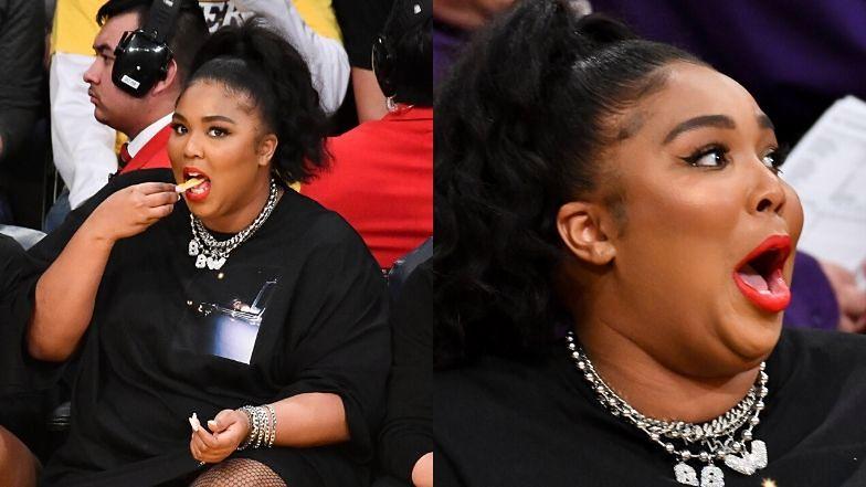 Lizzo bawiła się podczas meczu między Los Angeles Lakers i Minnesota Timberwolves.