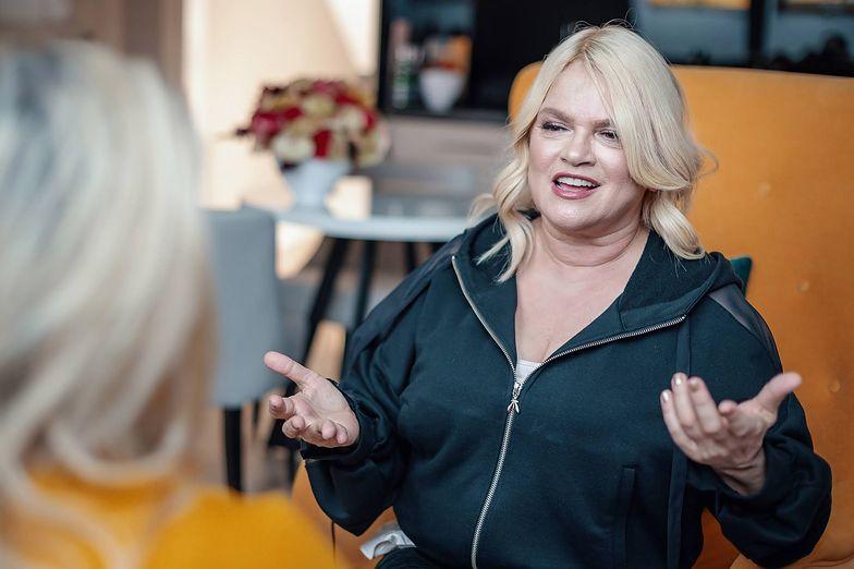Katarzyna Figura podczas wywiadu z Aldoną Sosnowską-Szczuką w My Story Apartaments Sopot.