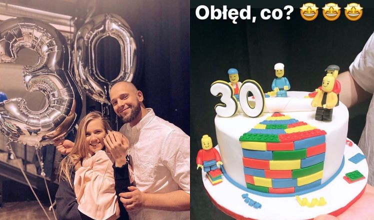 Dumna Agnieszka Kaczorowska chwali się imprezą urodzinową męża. Z okazji 30. urodzin kupiła mu WYMARZONY TORT LEGO
