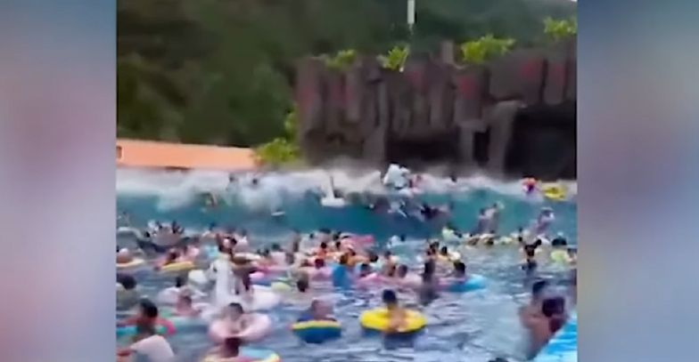 Fala tsunami w parku wodnym. Dziesiątki rannych w Longjingu