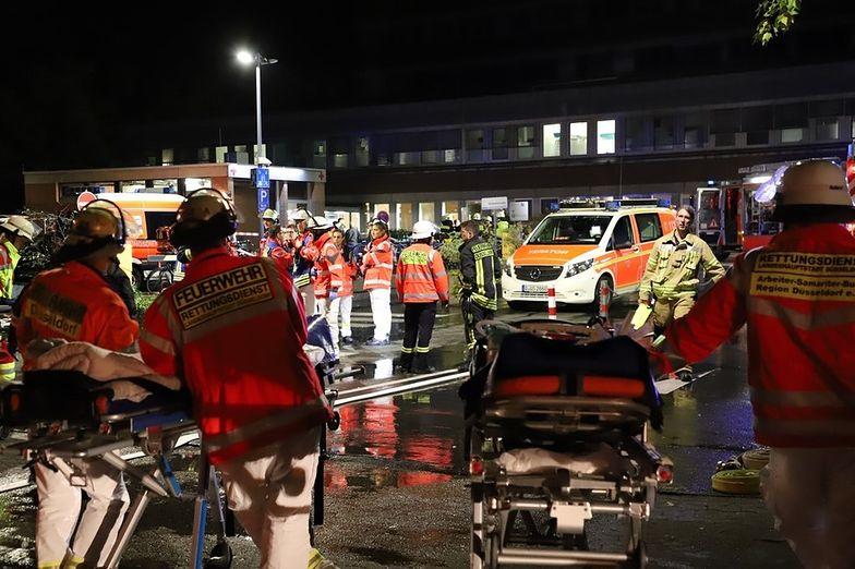 dusseldorf niemcy pożar szpital