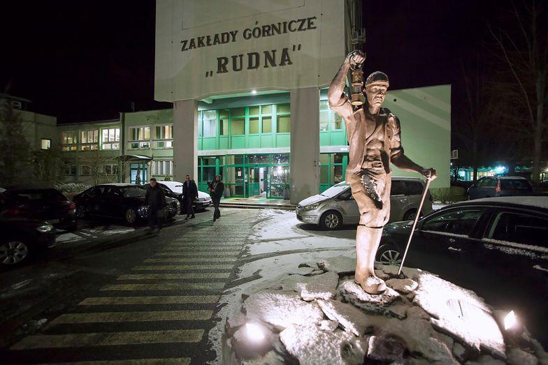 Wejście do kopalni Rudna w Polkowicach
