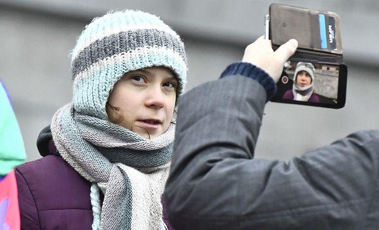 Greta Thunberg odwiedziła Gdańsk! Klimatyczna aktywistka była widziana w towarzystwie ekipy filmowej (FOTO)