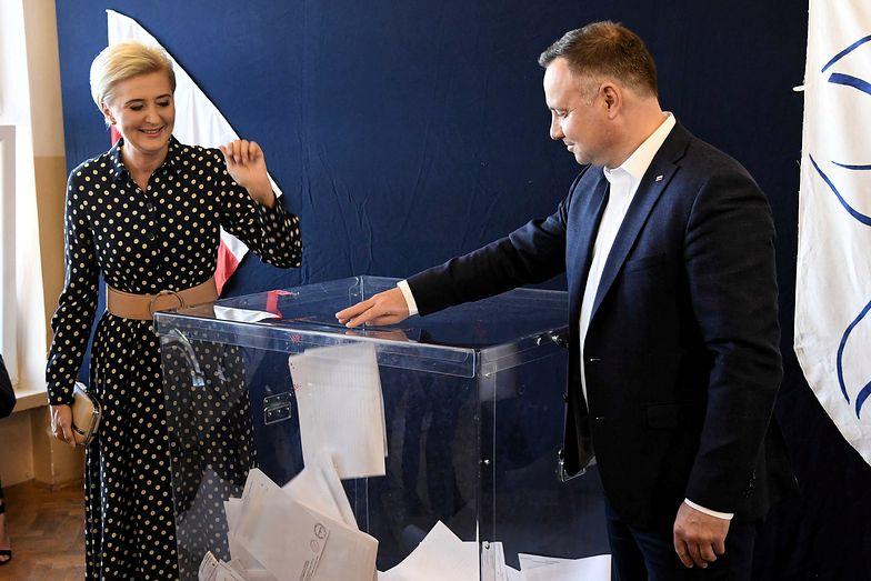 Agata Kornhauser Duda podczas wyborów parlamentarnych 2019
