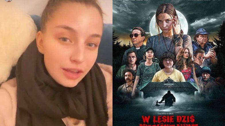 """Stanowcza Julia Wieniawa BRONI plakatu horroru ze swoim udziałem: """"Wyluzujcie!"""""""