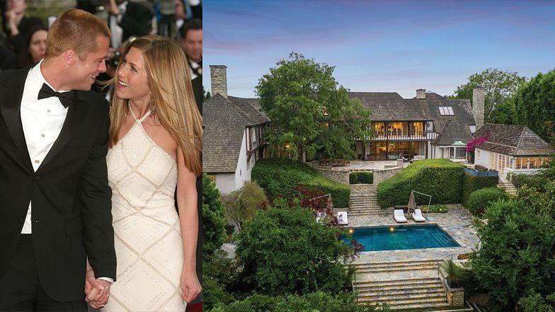 """""""Pałac miłosny"""" Jennifer Aniston i Brada Pitta jest na sprzedaż za 44,5 miliona dolarów! (ZDJĘCIA)"""